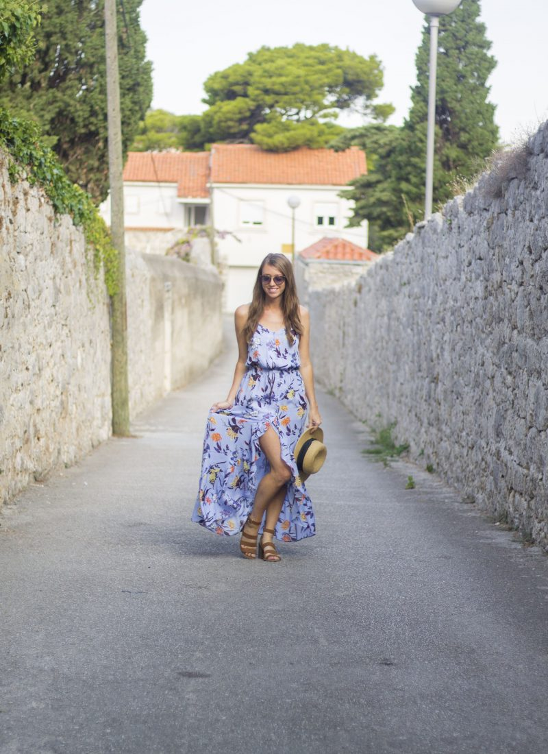 Maxi Dress in Old Town Dubrovnik