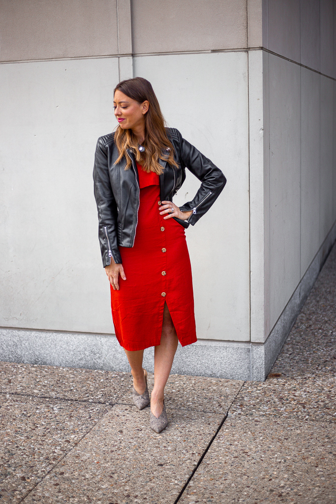 Faux Leather Pieces Styled for Fall