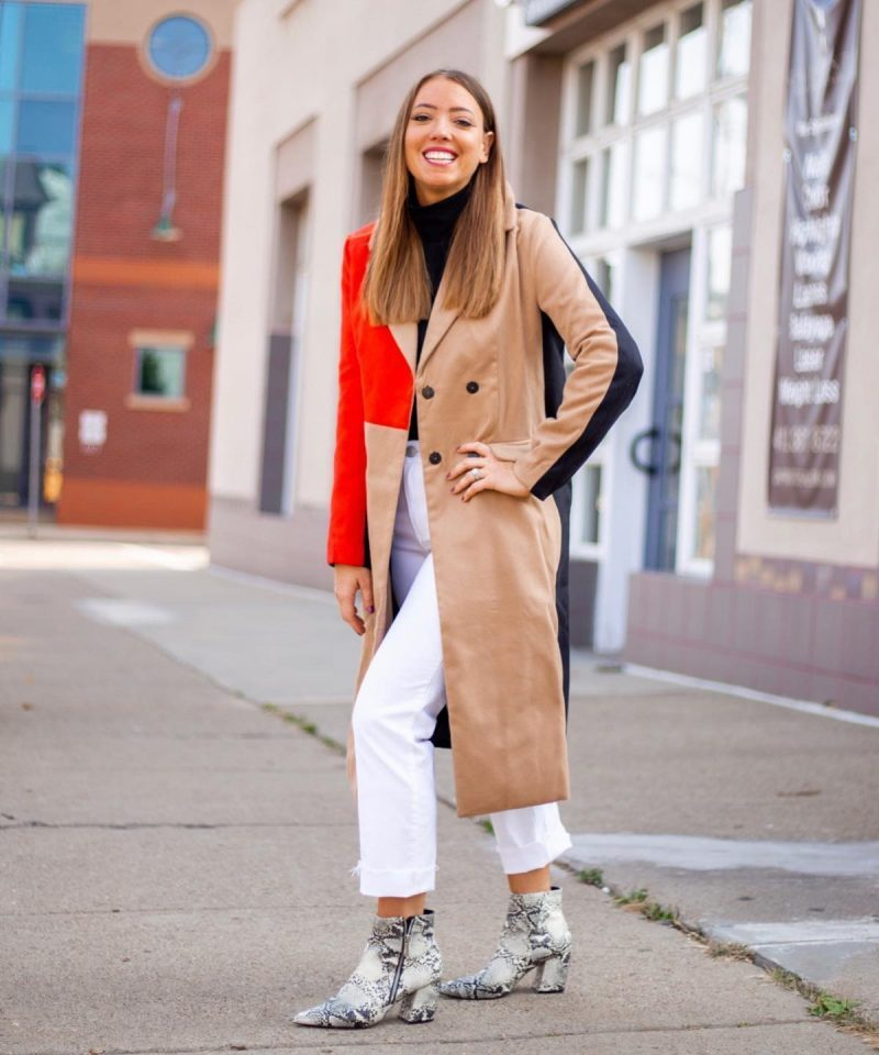 Fall Outfit Ideas – Animal Print and Colorblocking