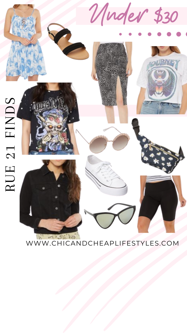 Rue21 clothing finds including graphic tees and tie dye